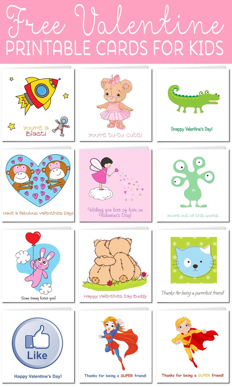 Printable Valentine Cards For Kids - Free Printable Valentine Cards For Husband