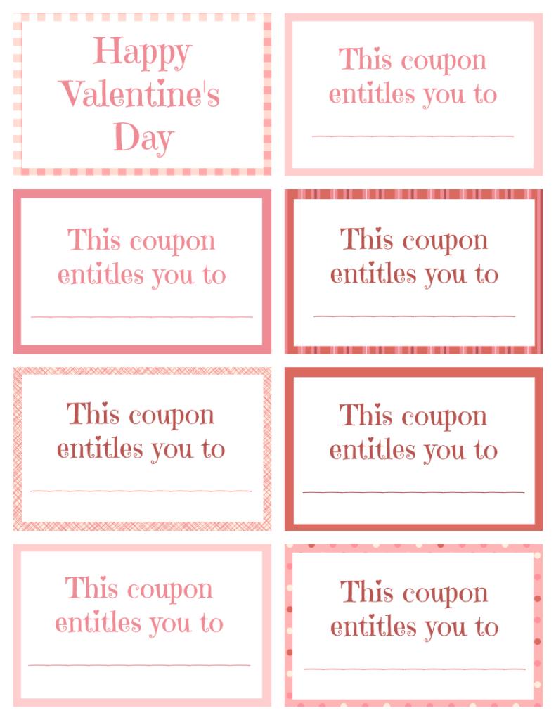 Printable Valentine Coupon Book Blank | Printables | Birthday - Free Printable Coupon Book For Boyfriend