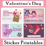 Printable Valentine's Day Stickers   Printables 4 Mom   Free Printable Valentine's Day Decorations