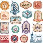 Printable Vintage Travel Stickers | Free Printable Papercraft Templates   Free Printable Travel Stickers
