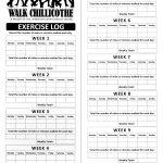 Printable Walking Log. | W I S H F U L ◇ T H I N K I N G | Fitness   Free Printable Walking Log