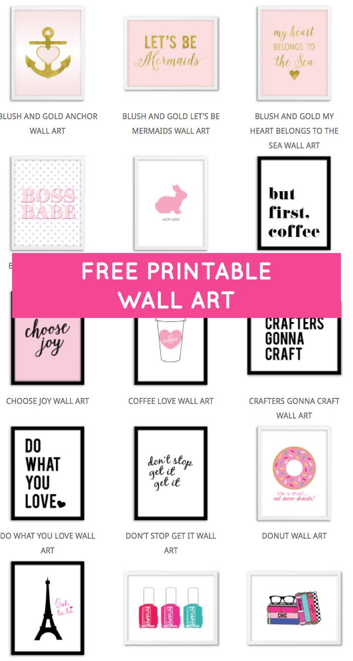 Printable Wall Art - Print Wall Decor And Poster Prints For Your - Free Printable Decor