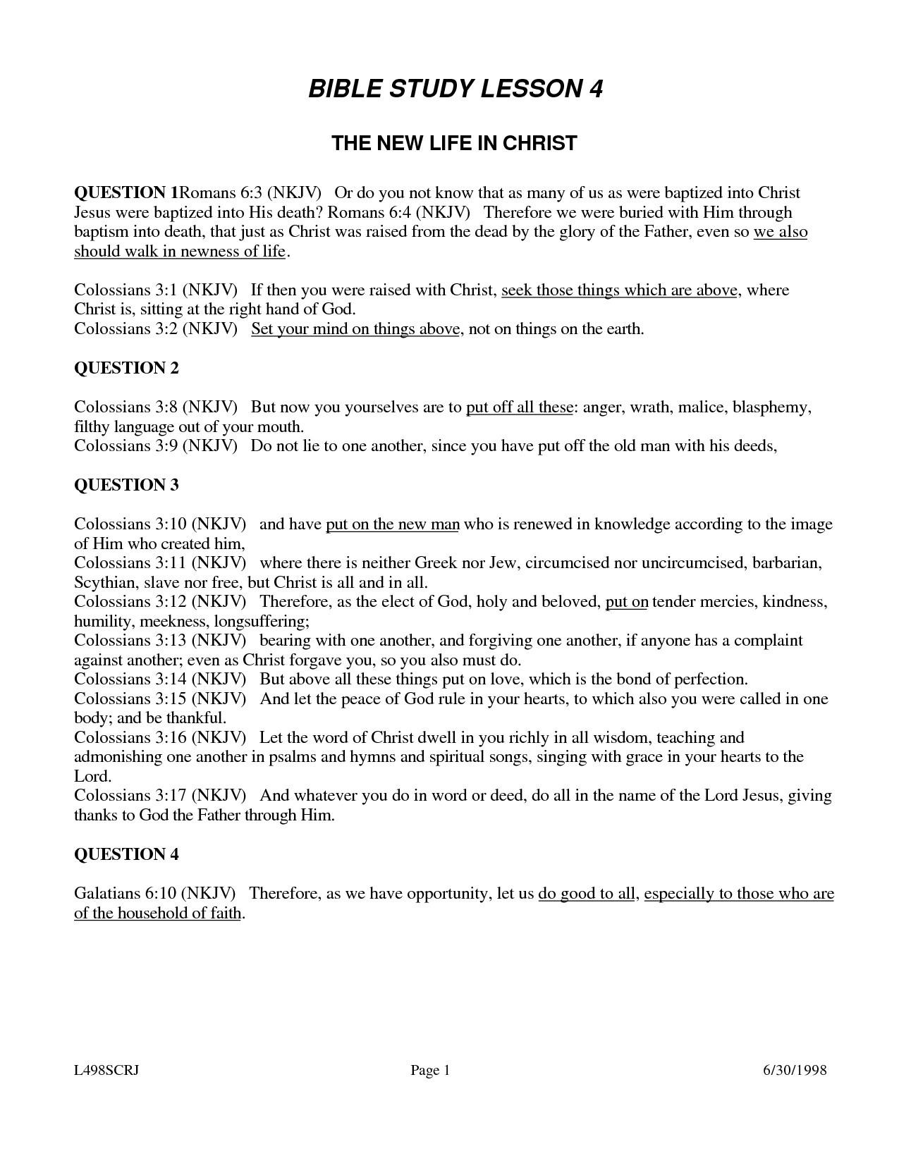 Printable Womens Bible Study Lessons Free (82+ Images In Collection - Free Printable Bible Lessons For Women