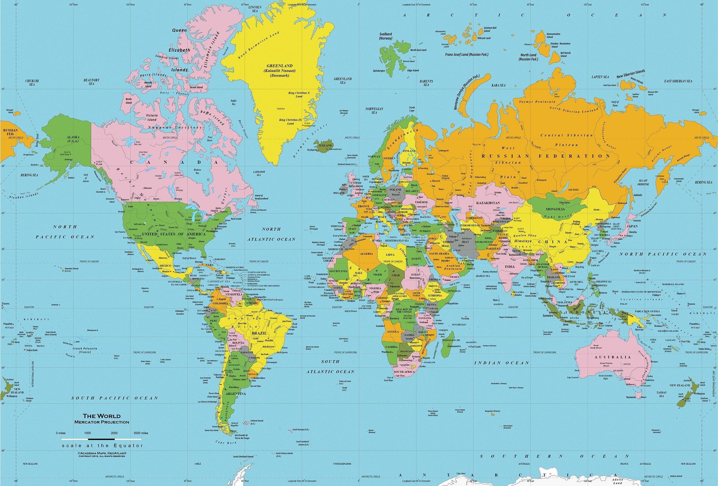 Printable World Map Free   Sitedesignco - Free Printable World Map
