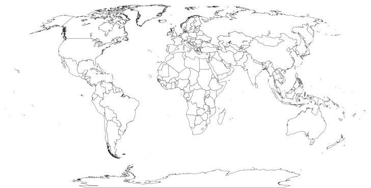 Free Printable Blank World Map Download