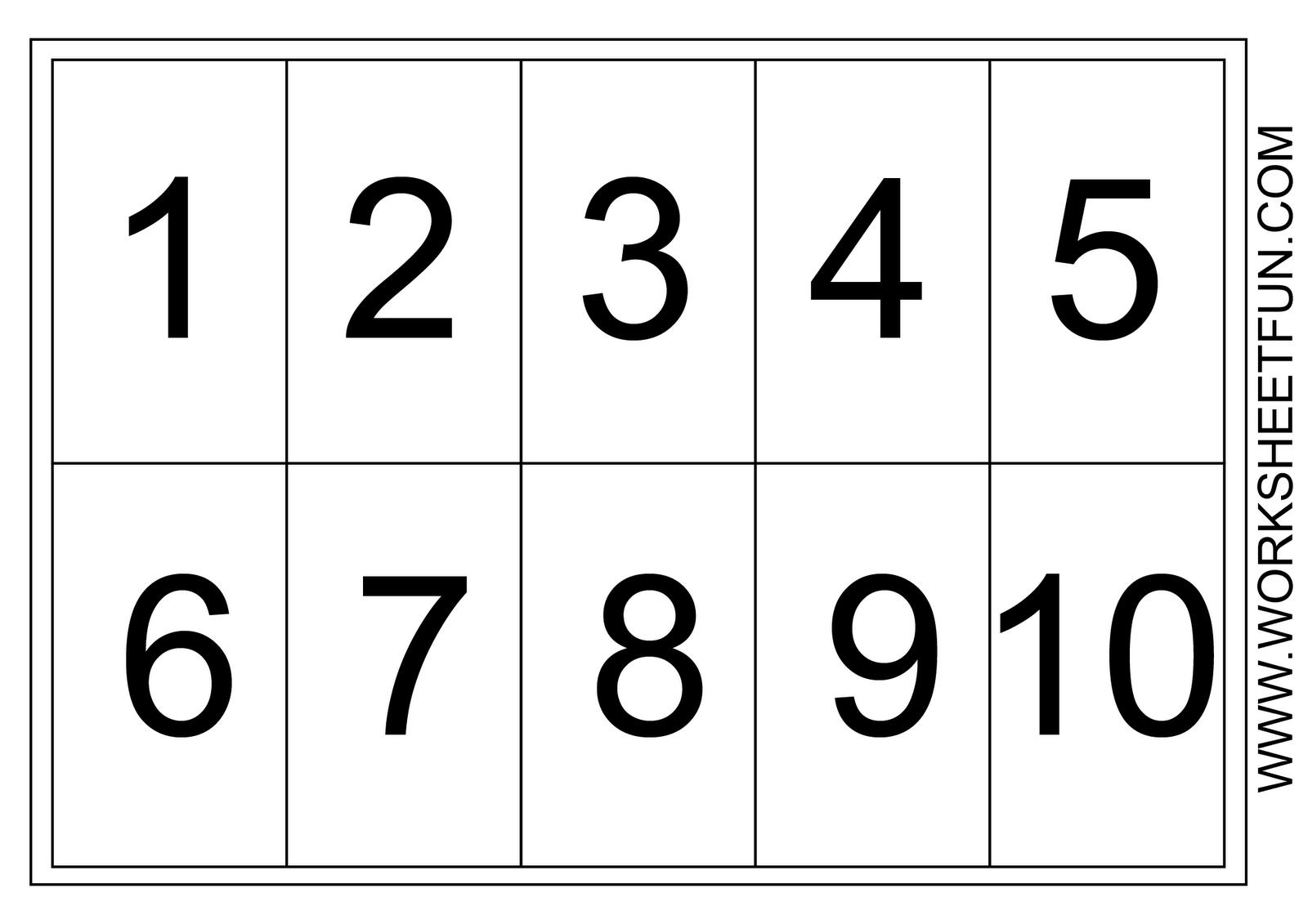Printables For Numbers 1 10 With Of Free Number Worksheets Focuses - Free Printable Numbers 1 10