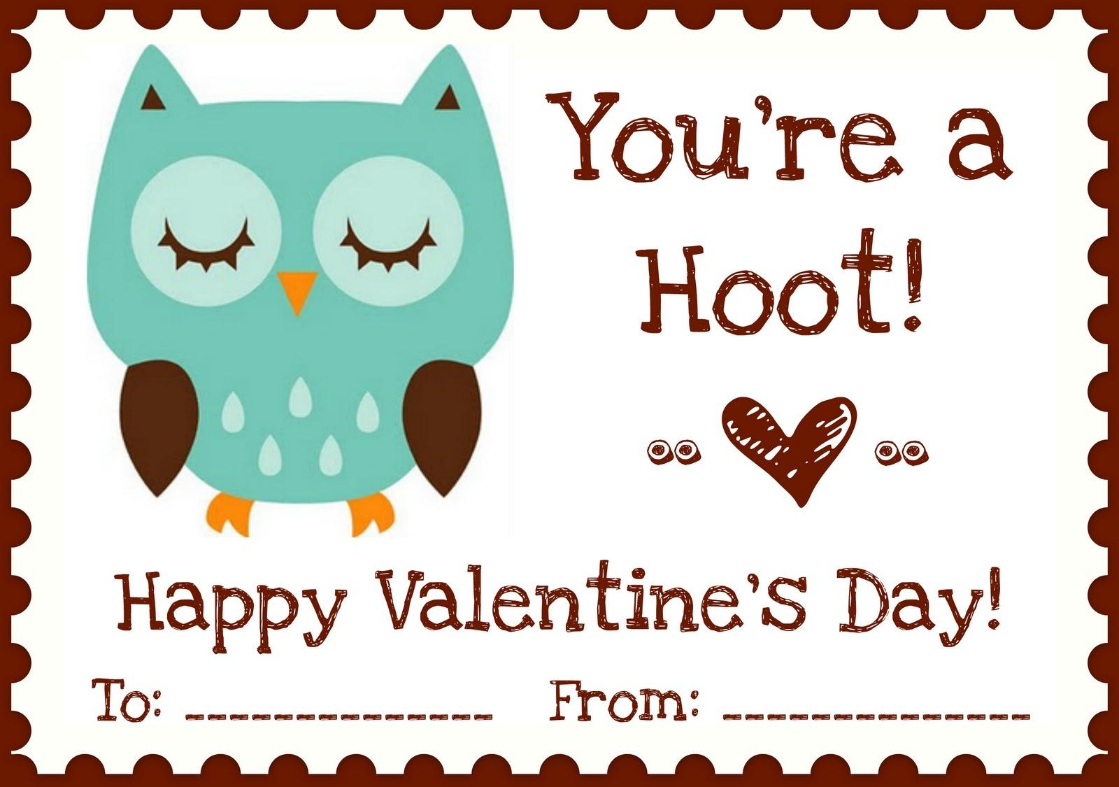 "Printables} ""owl Love You"" Valentines   A Night Owl Blog - Free Printable Owl Valentine Cards"