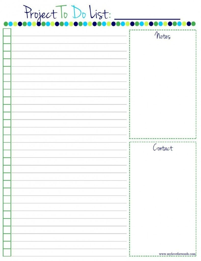 Project To Do List: Free Printable! | Home Manage Binder {Free} | To - Weekly To Do List Free Printable