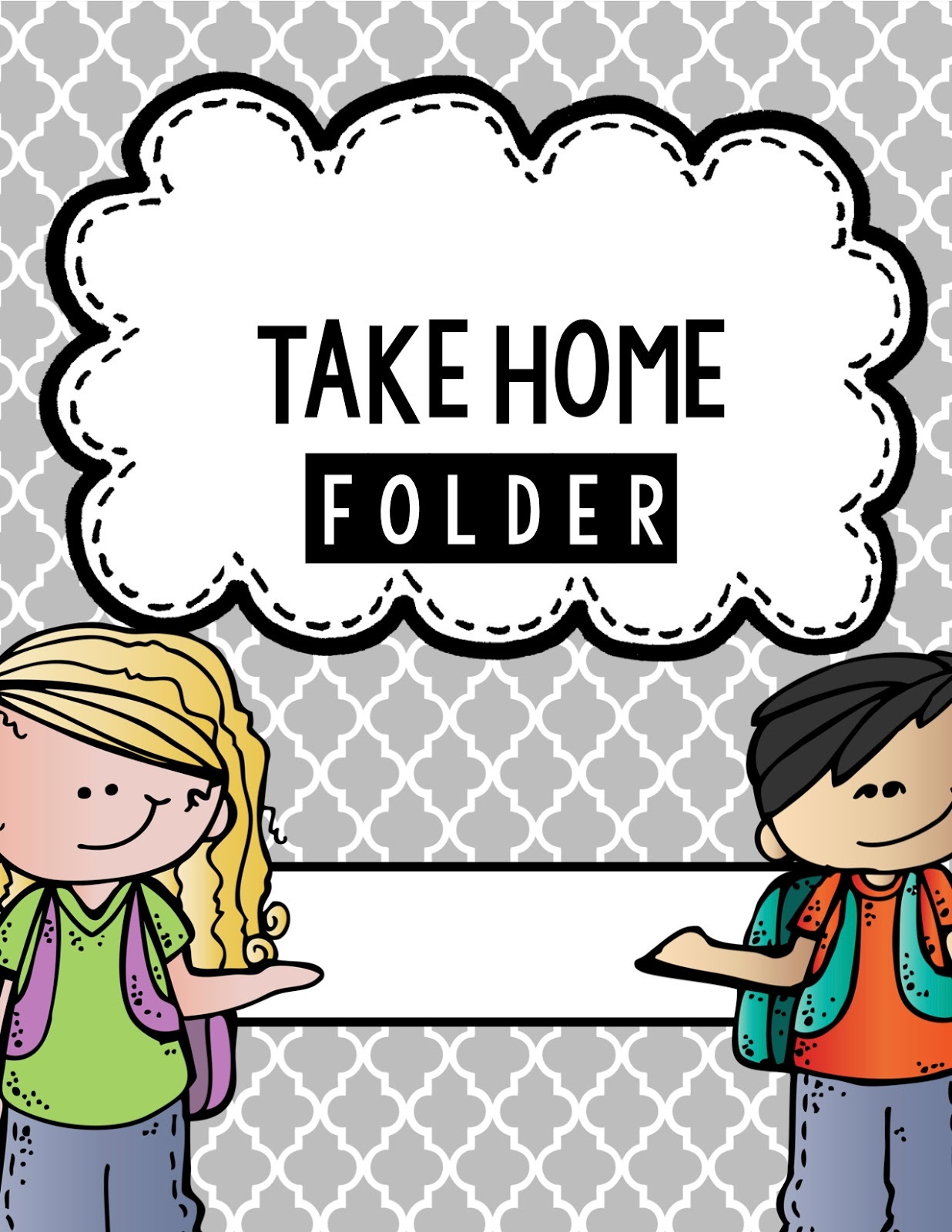 Projects And Polkadots In First: Managing Papers.from School To Home! - Free Printable Take Home Folder Labels