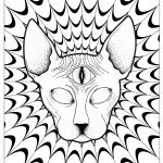 Psychedelic   Coloring Pages For Adults   Free Printable Trippy Coloring Pages
