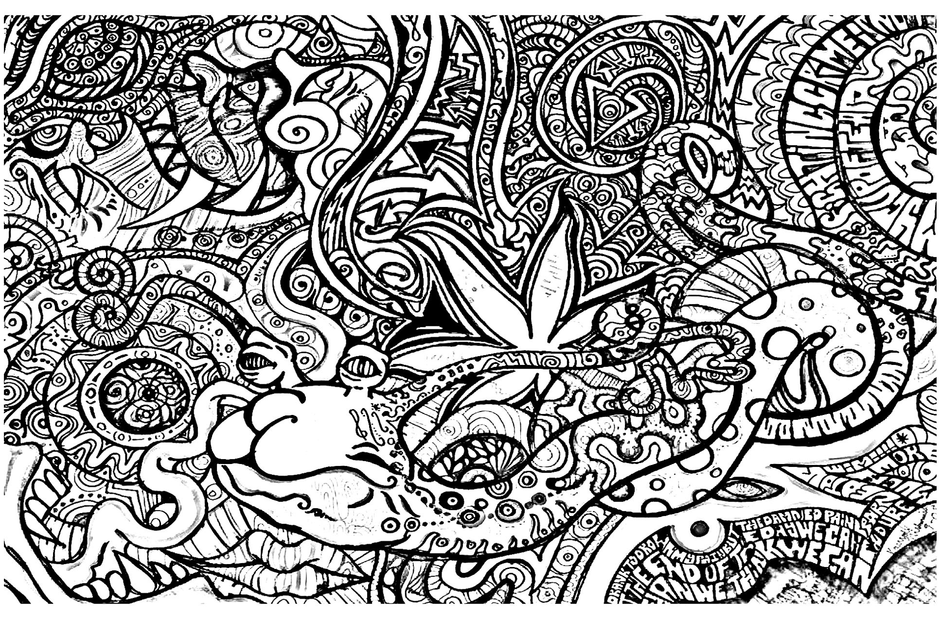 Psychedelic Coloring Pages - Psychedelic Coloring Pages For Adults - Free Printable Trippy Coloring Pages