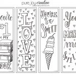 Pure Joy Creative: Free Printable Valentines Day Cards And Bookmarks   Free Printable Valentine Bookmarks