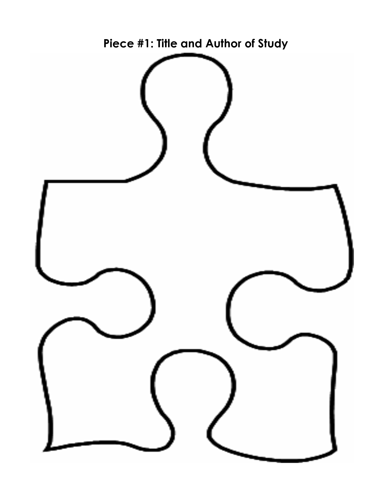 Puzzle Piece Mystery Book Template Pp   Printables   Puzzle Piece - Free Blank Printable Puzzle Pieces