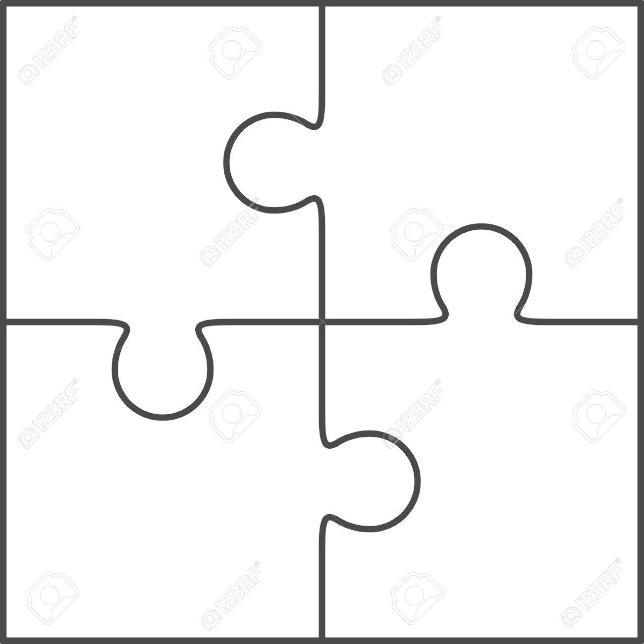 Puzzle Piece Outline   Free Download Best Puzzle Piece Outline On - Free Blank Printable Puzzle Pieces