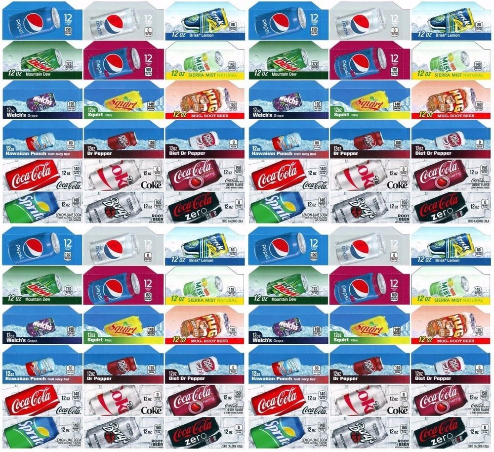 Qty 72 Coke Or Soda Machine Vending Variety Label Pack - Late Style - Free Printable Soda Vending Machine Labels