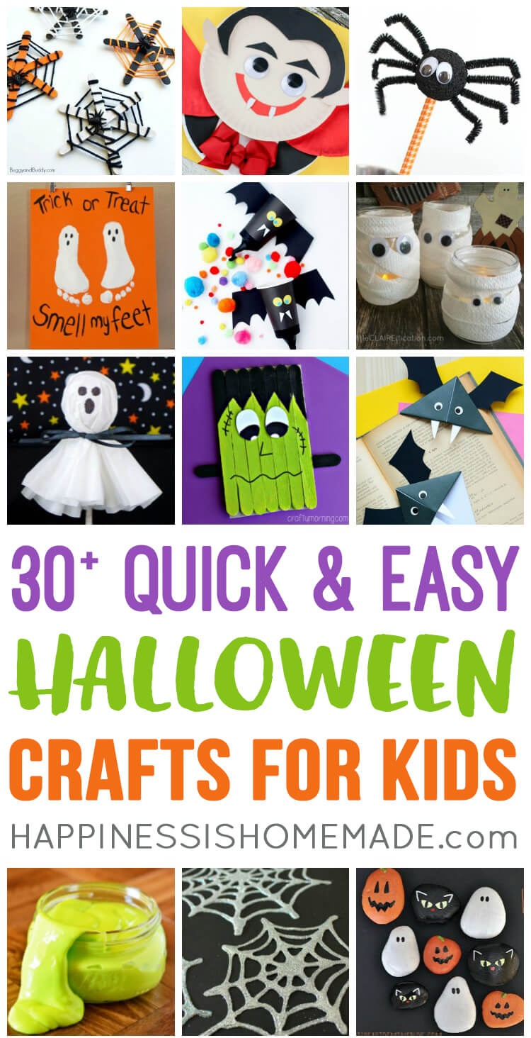 Quick & Easy Halloween Crafts For Kids - Happiness Is Homemade - Free Printable Halloween Paper Crafts