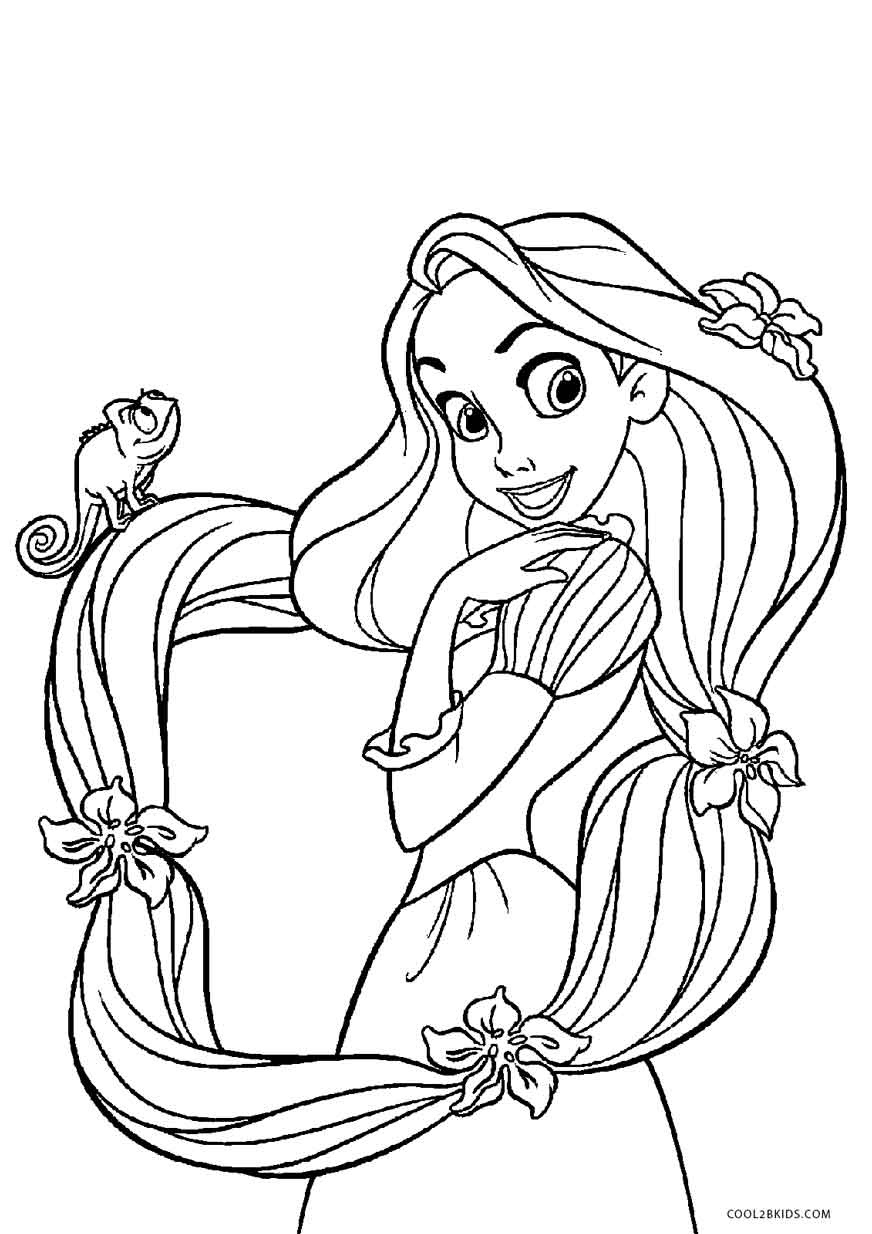 Rapunzel Coloring Pages Free Printable Tangled Coloring Pages For - Free Printable Tangled