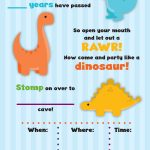 Rawr! Free Dinosaur Birthday Party Printables | My Silly Squirts   Free Printable Dinosaur Labels