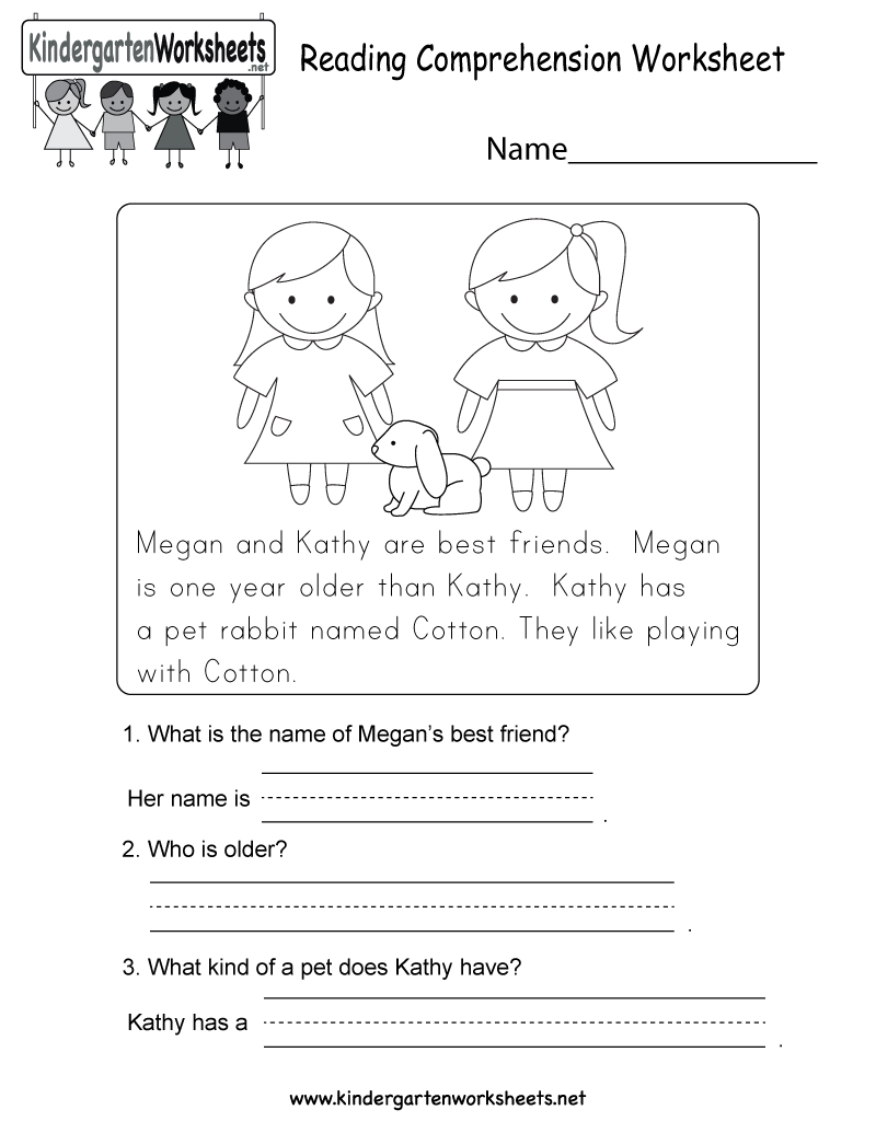 Reading Comprehension Worksheet - Free Kindergarten English - Free Printable English Reading Worksheets For Kindergarten