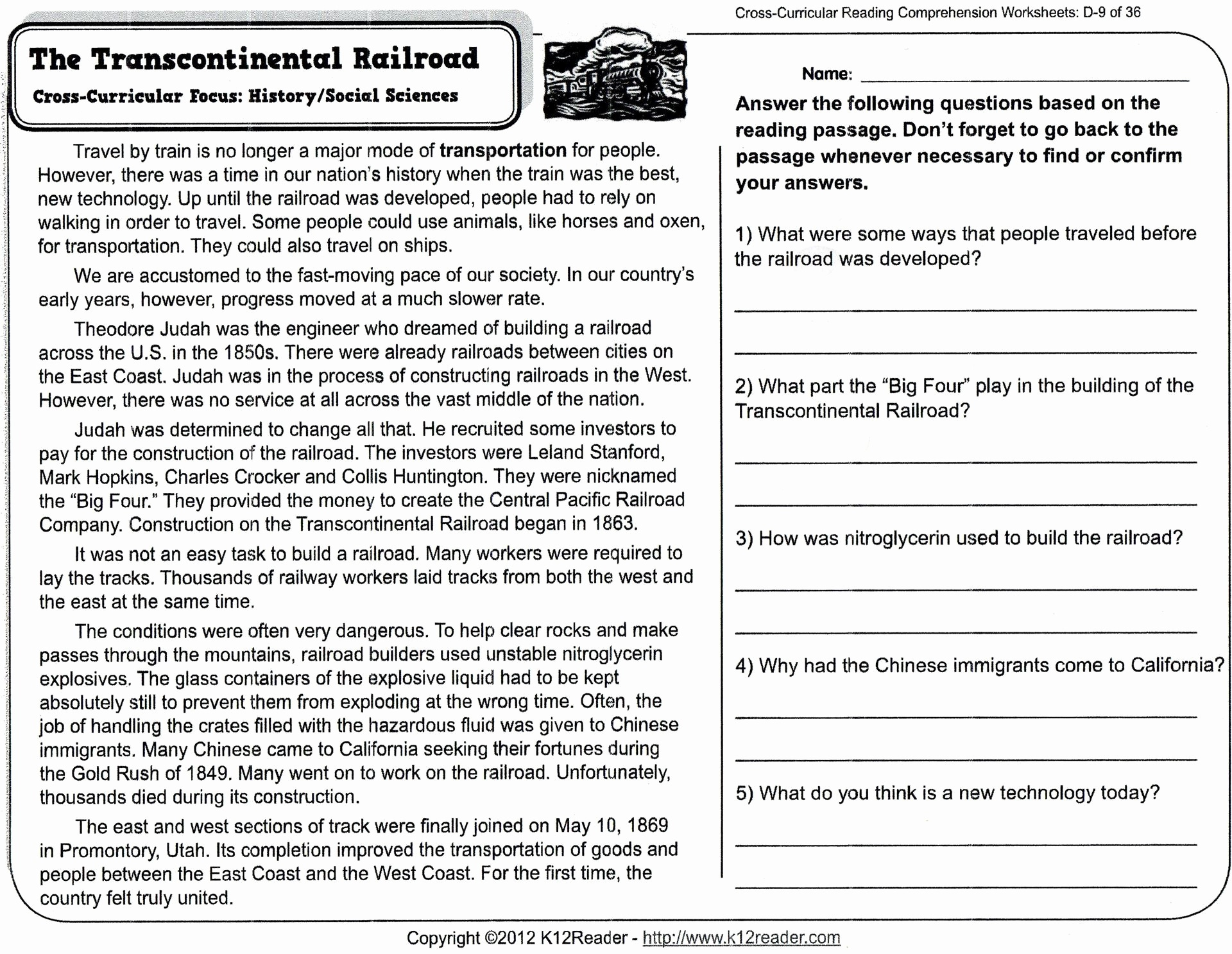 Reading Comprehension Worksheets For 8Th Grade Free Report Templates - Free Printable Reading Comprehension Worksheets Grade 5