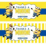 Really Loving These Water Bottle Labels! Thanks   Thanks A Minion Free Printable