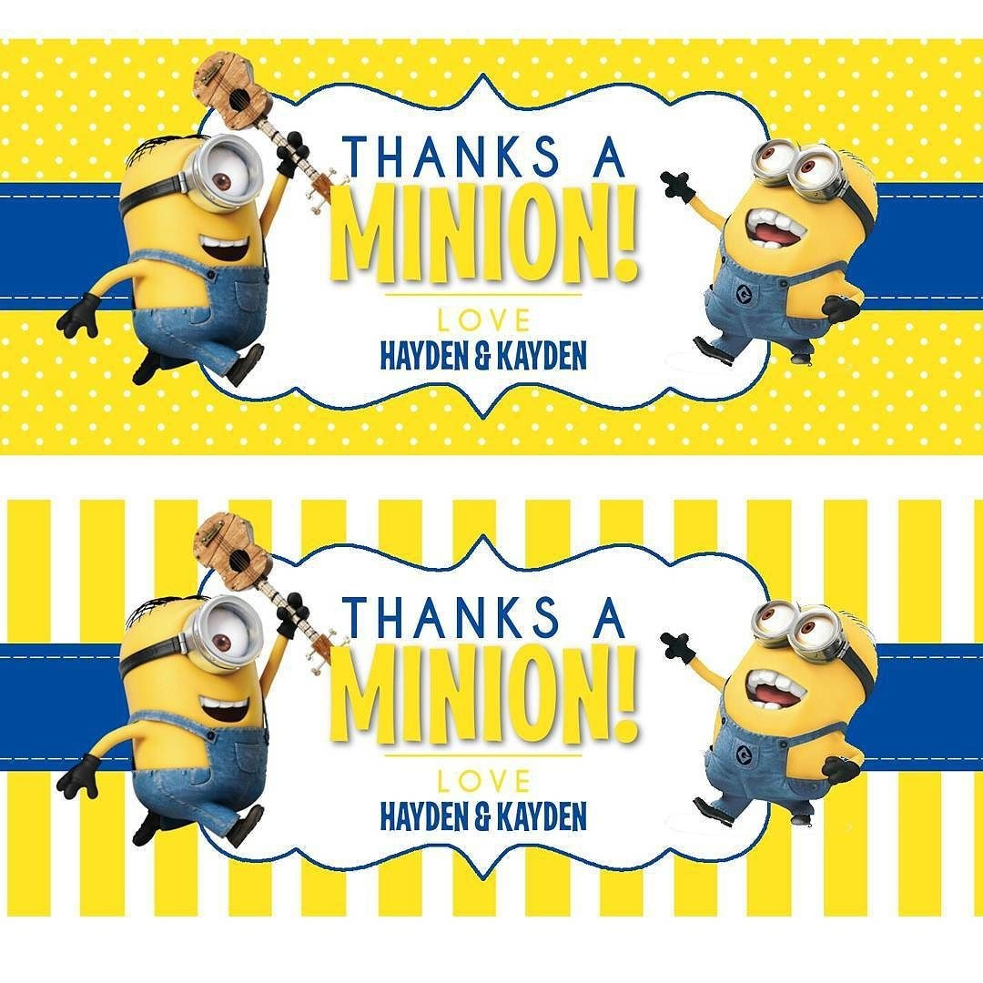 Really Loving These Water Bottle Labels! Thanks - Thanks A Minion Free Printable