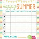 Recipes From Stephanie: Free Bunco Score Sheet | Bunco In 2019   Free Printable Bunco Game Sheets