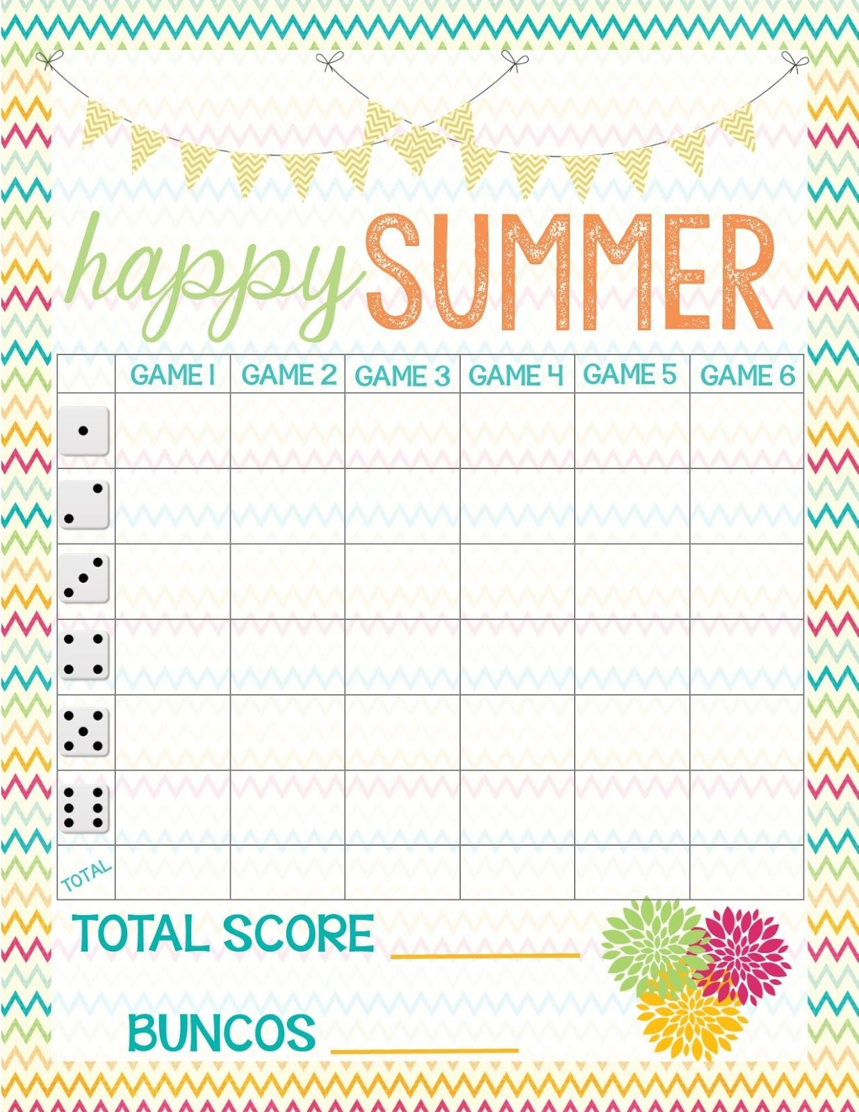 Recipes From Stephanie: Free Bunco Score Sheet | Bunco In 2019 - Free Printable Bunco Game Sheets