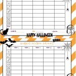 Recipes From Stephanie: Halloween Bunco Sheet   Free Printable Halloween Bunco Score Sheets