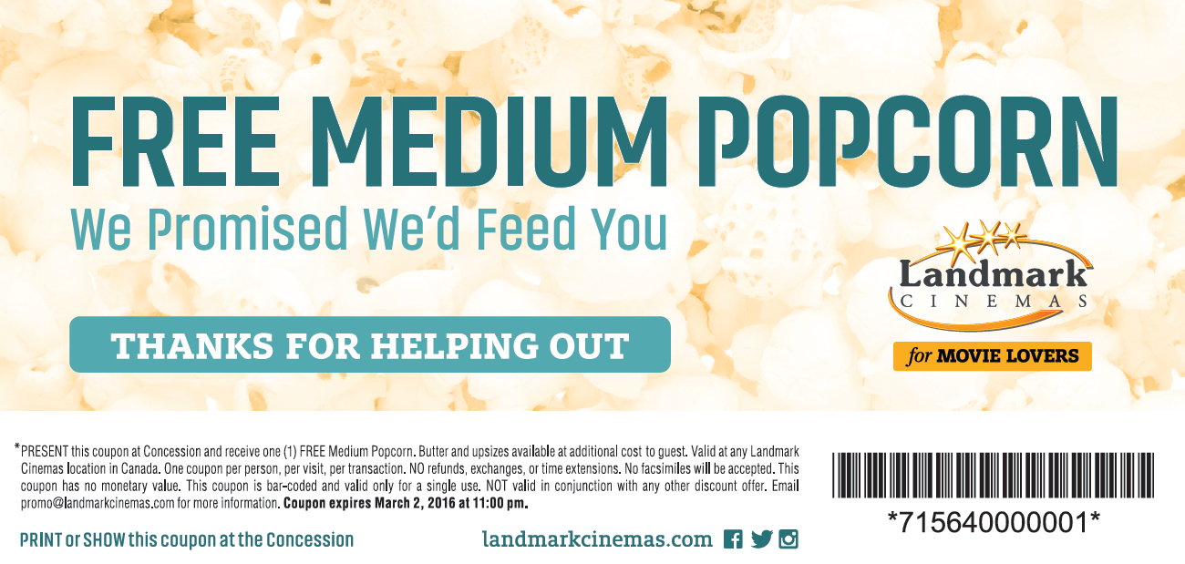 Regal Cinema Free Popcorn Printable Coupons : Best 19 Tv Deals - Regal Cinema Free Popcorn Printable Coupons