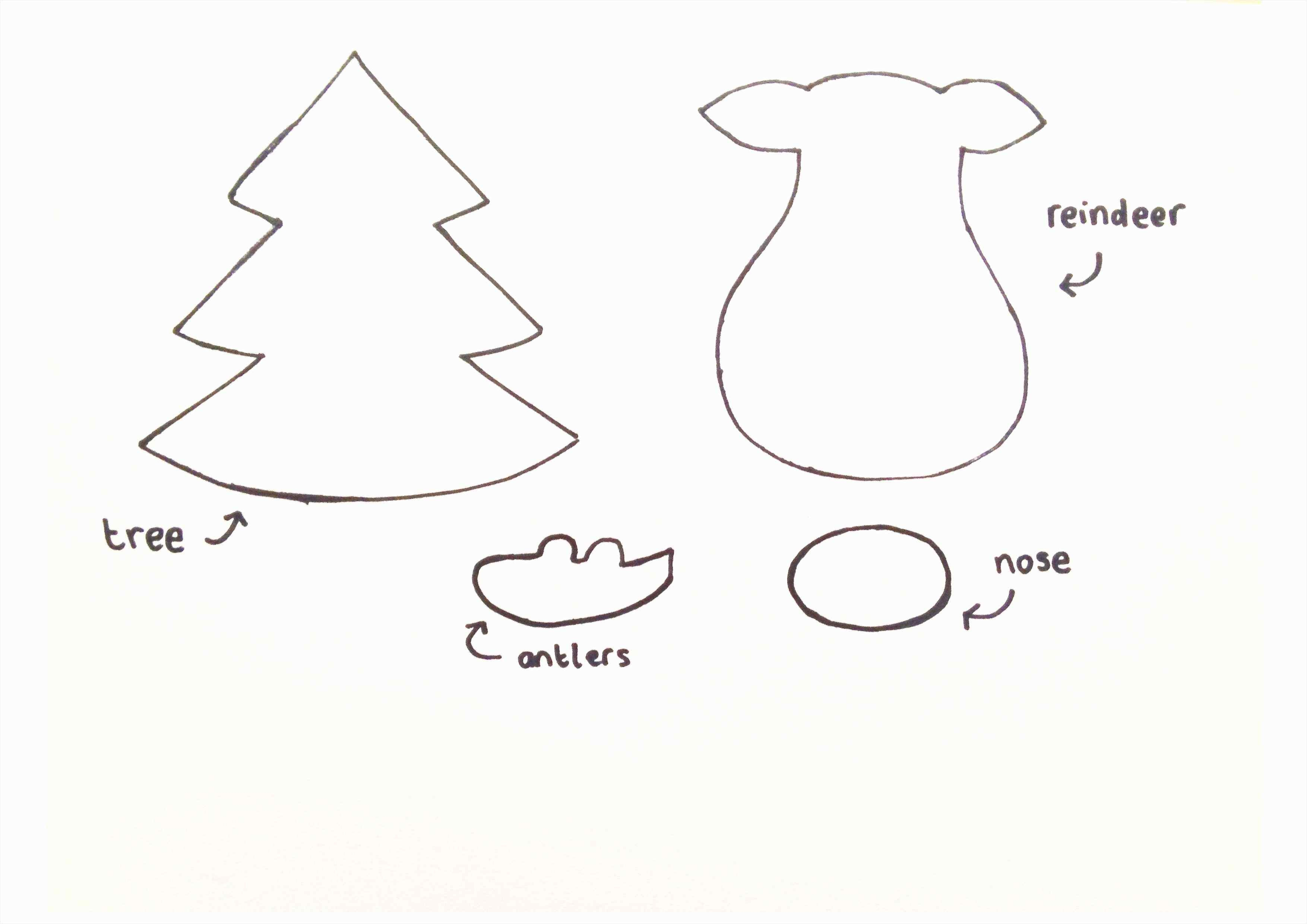 Reindeer Template | Tubidportal - Reindeer Antlers Template Free Printable