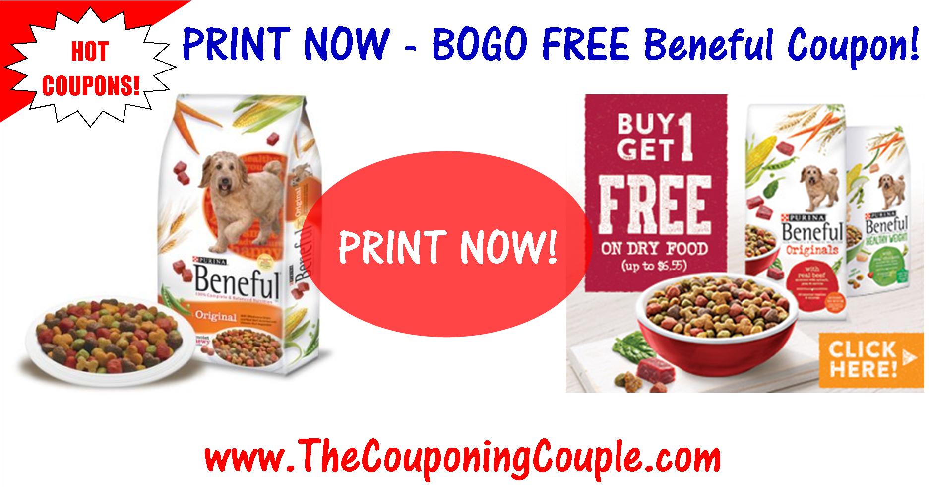 Reset*** Bogo Free Beneful Dog Food Printable Coupon ~ Print Now! - Free Printable Dog Food Coupons