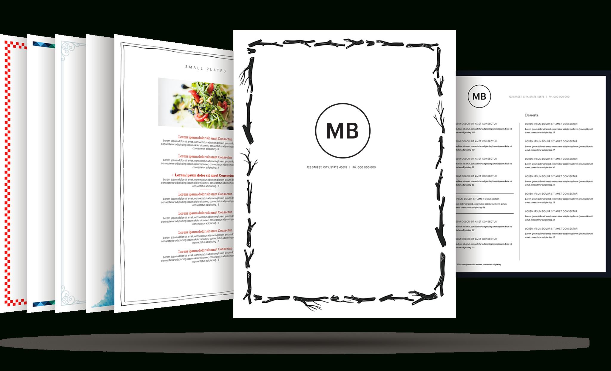 Restaurant Menu Template | Build Your Free Restaurant Menu Maker - Design A Menu For Free Printable