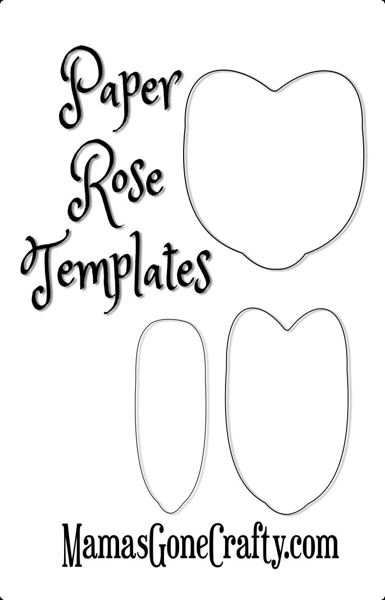 Rose Petal Printable Templates | Paper Crafts | Paper Flowers Diy - Free Printable Paper Flower Templates