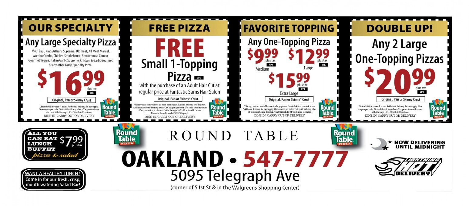 Round Table Pizza Deals | Deoverslag - Free Printable Round Table Pizza Coupons