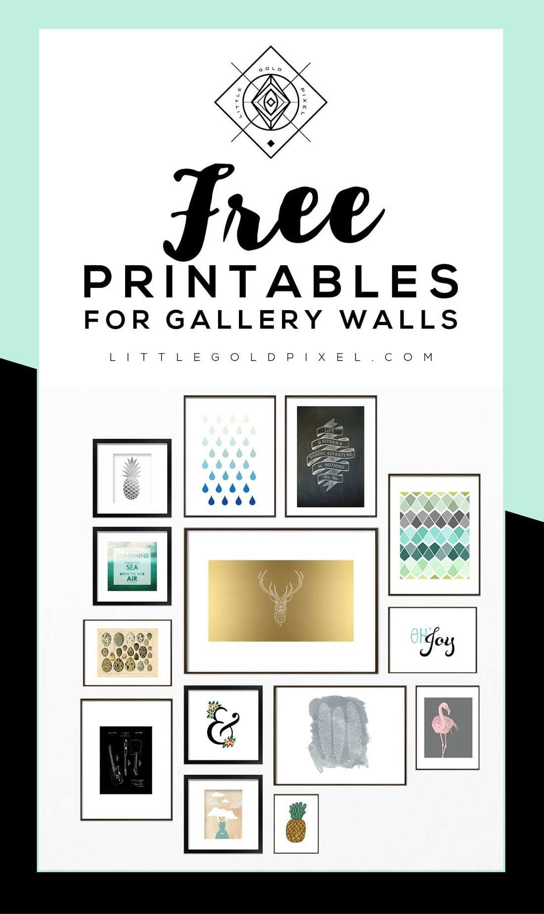 Roundup: Free Printables For Gallery Walls • Little Gold Pixel - Free Printable Wall Art