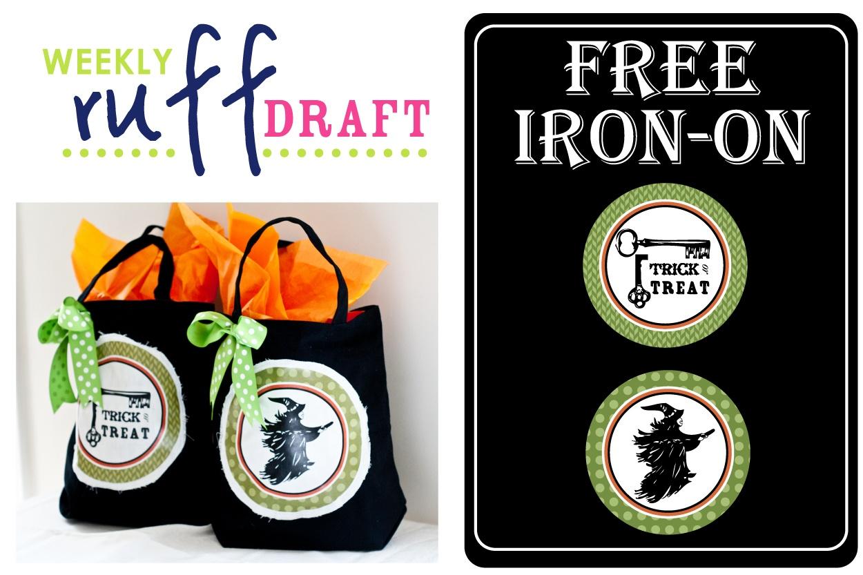 Ruff Draft: Free Halloween Iron-On For Trick Or Treat Bags - Anders - Free Printable Halloween Iron Ons