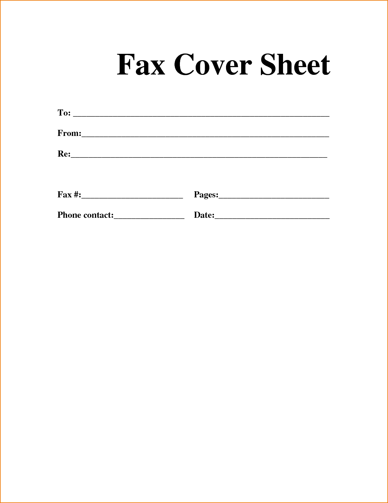 Sample Personal Fax Cover Sheet | Template In 2019 | Cover Sheet - Free Printable Fax Cover Sheet Pdf
