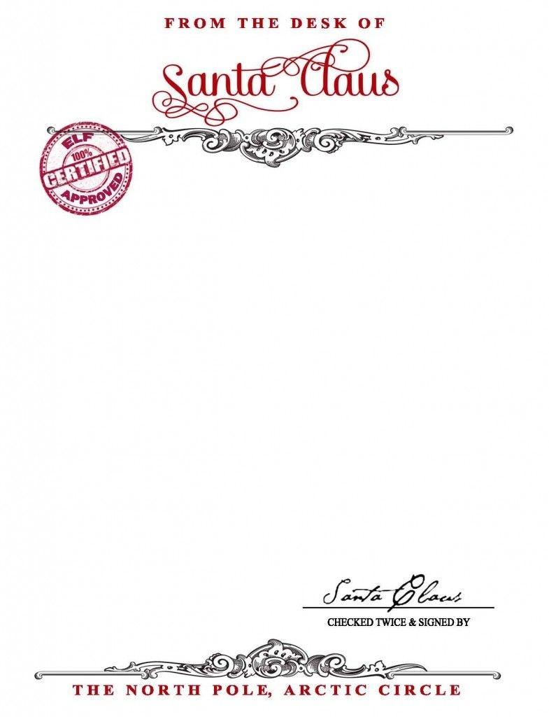 Santa Claus Stationary {Free Printable} - Your Golden Ticket Blog - Free Printable Santa Letter Paper