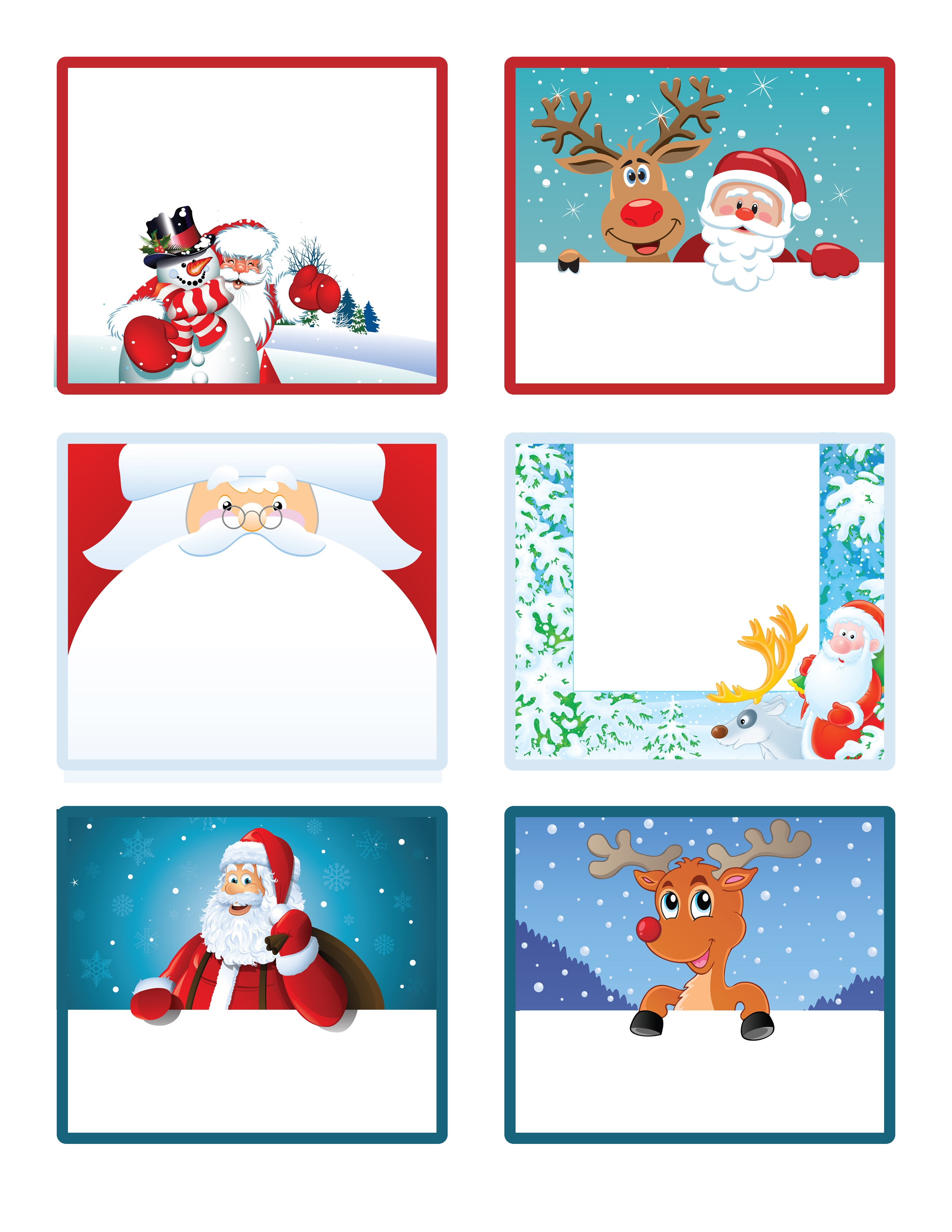 Santa's Little Gift To You! Free Printable Gift Tags And Labels - Free Printable Holiday Labels