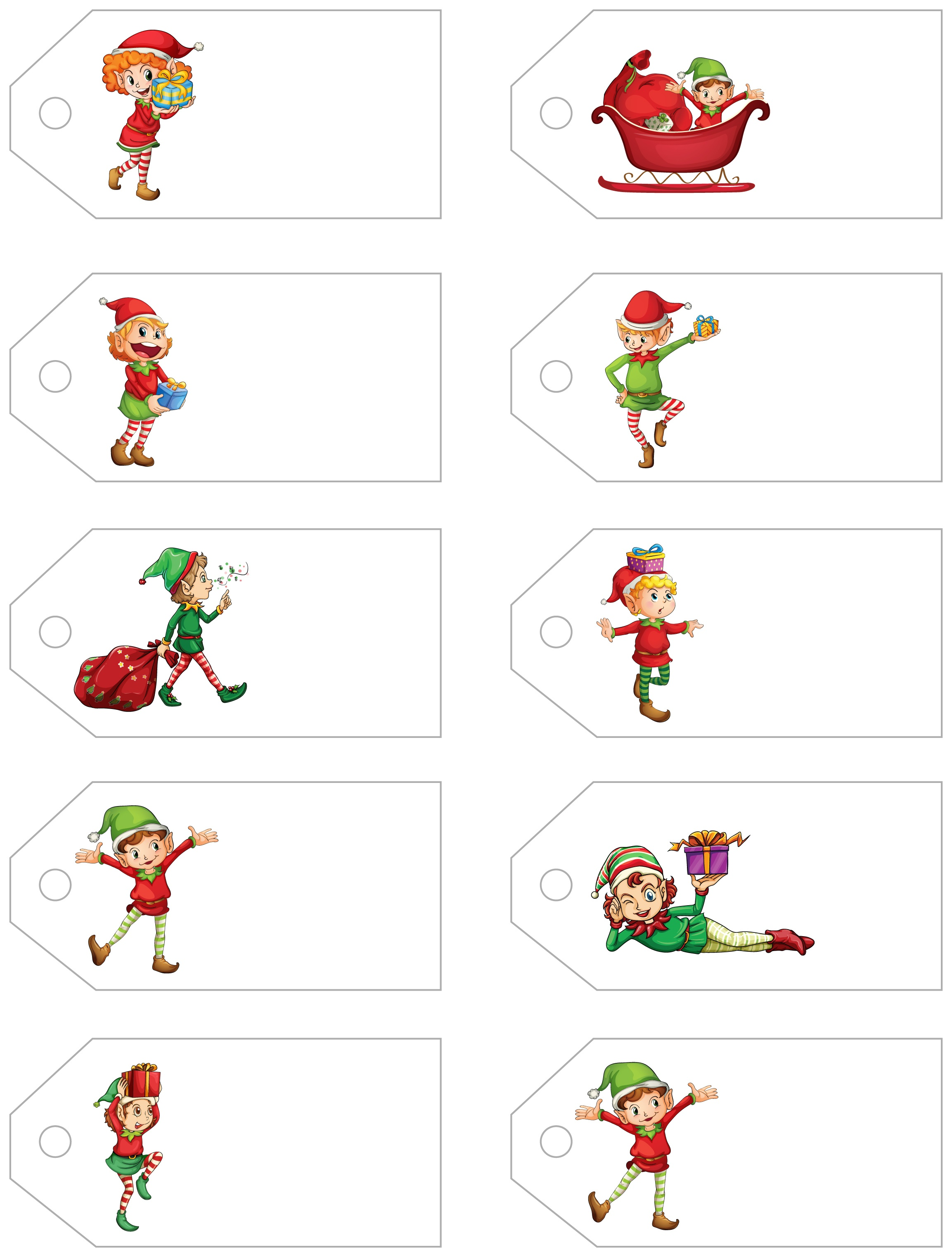 Santa's Little Gift To You! Free Printable Gift Tags And Labels - Free Printable Santa Gift Tags