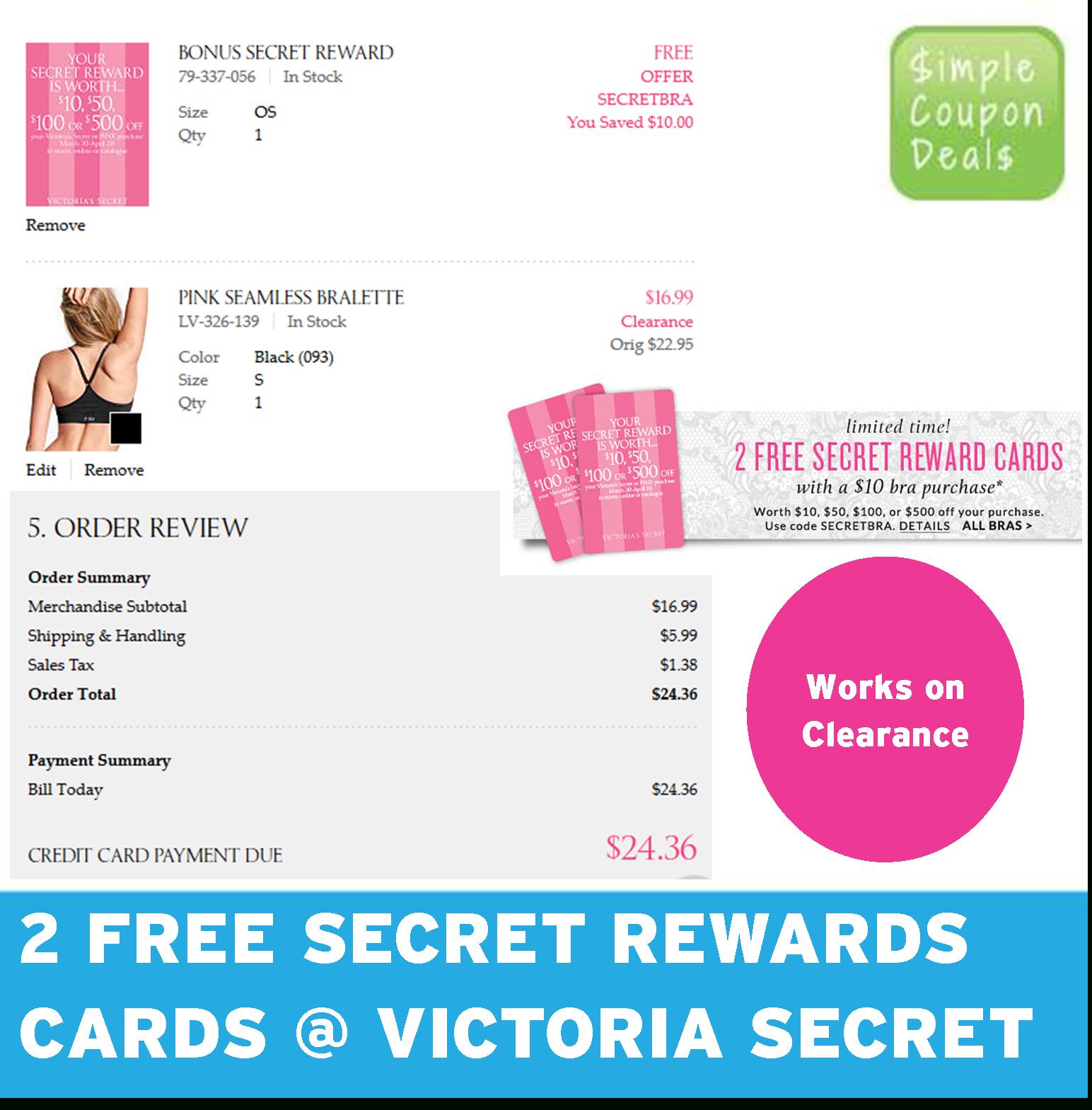 Save Money With Victoria's Secret Sales, Secret Rewards - Free Printable Coupons Victoria Secret