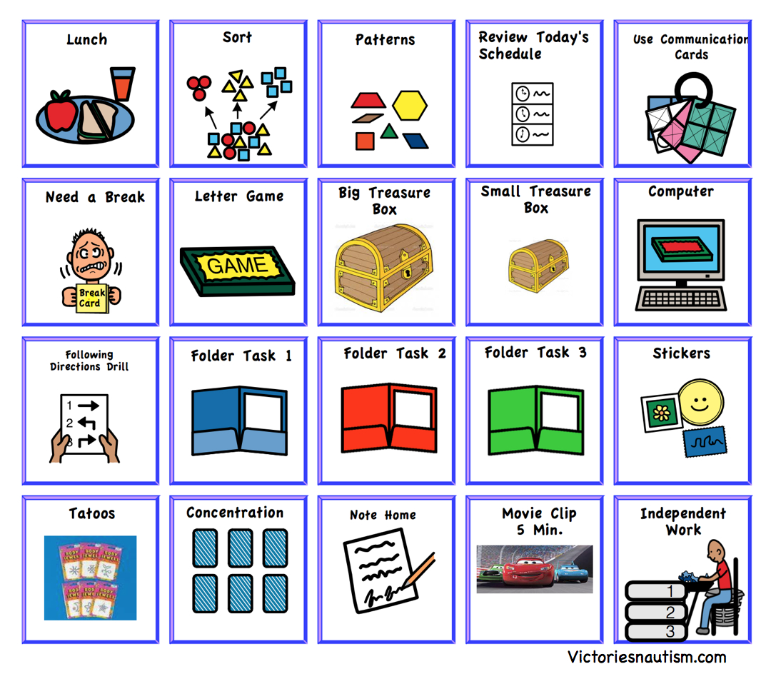 Schedule, Activity And Task Cards - Free Printable Picture Schedule Cards