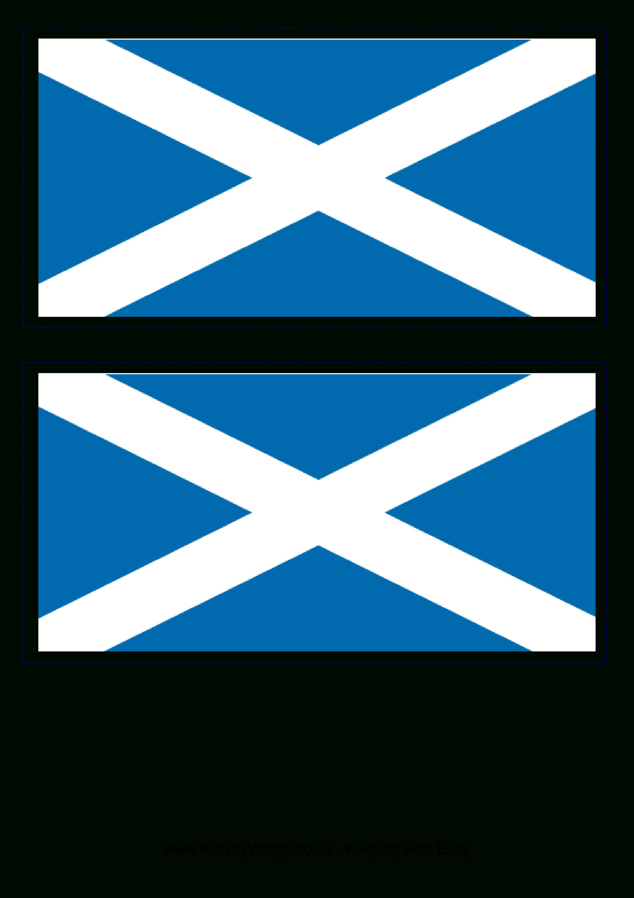 Scotland Flag - Download This Free Printable Scotland Template A4 - Free Printable Scottish Flag