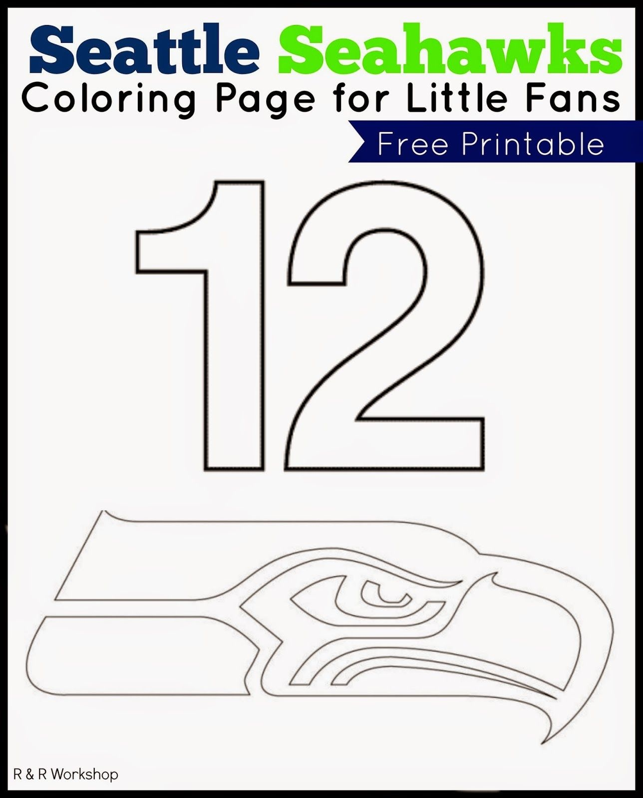 Seattle Seahawks Coloring Page For Kids | Ogt Blogger Friends - Free Printable Seahawks Coloring Pages