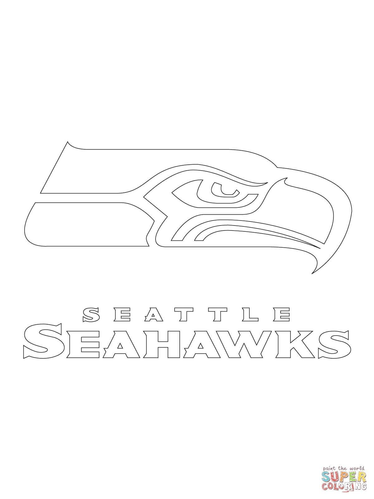 Seattle Seahawks Logo | Super Coloring | Books Worth Reading - Free Printable Seahawks Coloring Pages