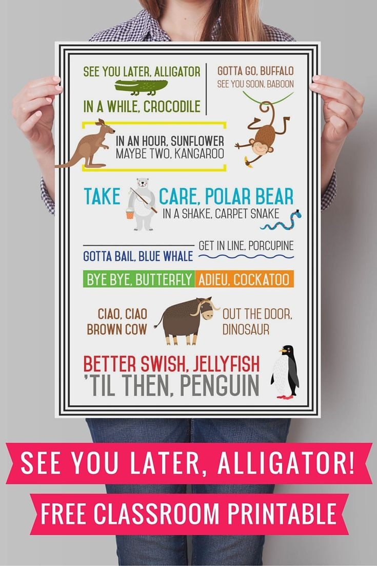 See You Later Alligator {Free Printable} | See You Later | See You - See You Later Alligator Free Printable