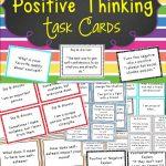 Self Esteem And Positive Thinking Task Cards | Special Education   Free Printable Self Esteem Bingo
