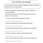 Sentences Worksheets | Run On Sentences Worksheets   Free Printable Sentence Correction Worksheets