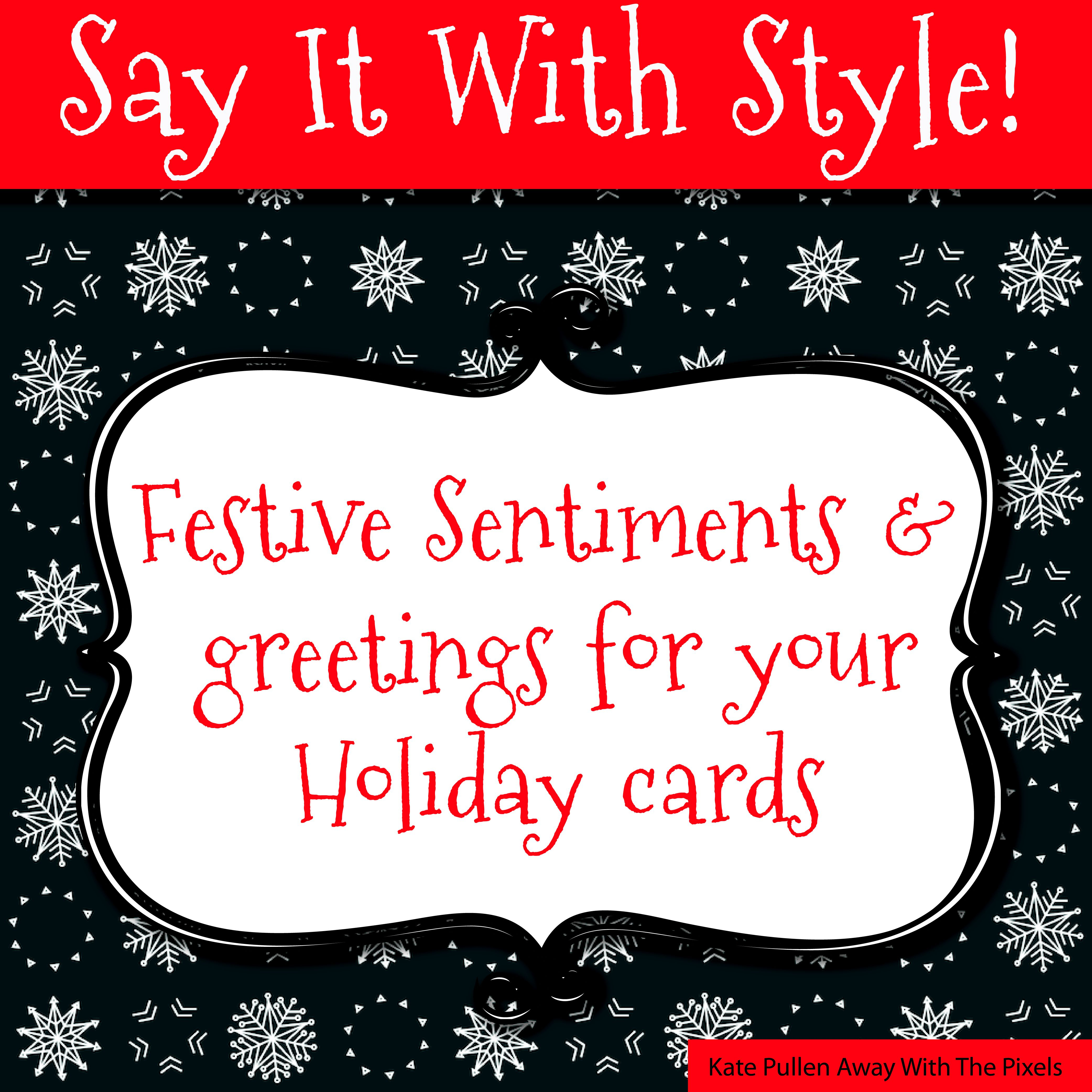 Sentiments And Greetings For Christmas Cards - Free Printable Greeting Card Sentiments